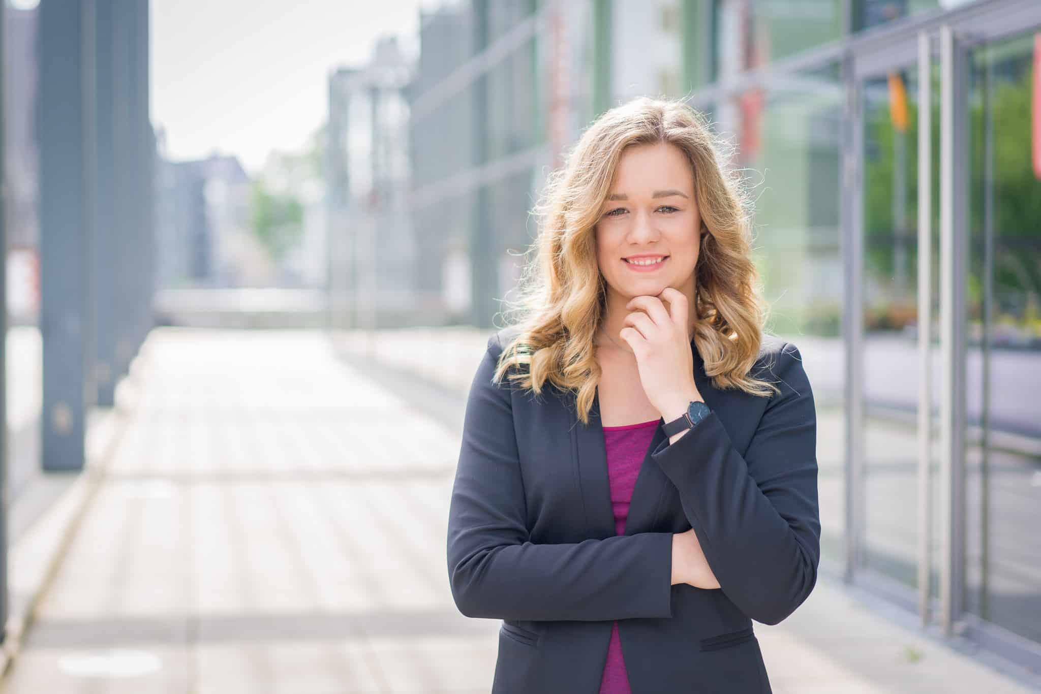 Businessfoto Bewerbung Frau